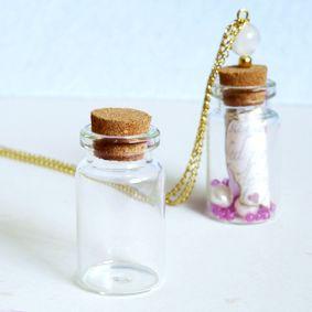 www.cuentaabalorios.com tarrito de cristal para colgante. LLénalo de tu imaginación.
