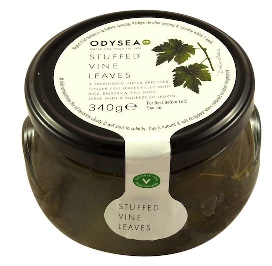 Tender vine leaves hand wrapped around a savoury filling of rice, pine nuts and onions seasoned with herbs
