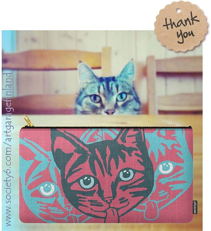 Sold!!!  ..thanks to the recent buyer of this 'Mollycat Close-up' carry-all pouch (medium size) from my Society6 shop. (follow link in Mollycat's bio to Society6!) . . #society6 #thankyou #instadesign #sold #shareyoursociety6 #art #artist #arte #konstnär #instaart #cute #cats #猫 #instacool #pets #mollycat #designs #catstuff #catoftheday #catsofig #pink #catsofinstagram #instalikes #cat #catseyes #catlover #cute #catsagram #mollycatfinland #pouch #carryallpouch