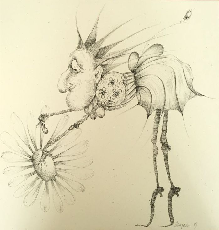 Buy Loves Me...Loves Me Not., Ink drawing by Stefania Morgante on Artfinder. Discover thousands of other original paintings, prints, sculptures and photography from independent artists.
