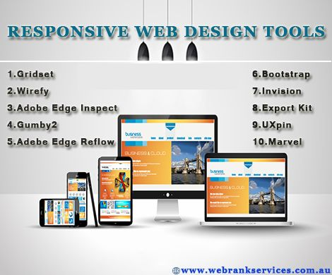 #Responsive Web Design Tools! One of the most appealing aspects of responsive web design is that a responsive website can provide a great user-experience across many devices and screen sizes. In fact responsive web design has become one of the hottest trends. goo.gl/jvEiKI This is due to the growth of Smartphone and other mobile devices. http://webrankservices.com.au/