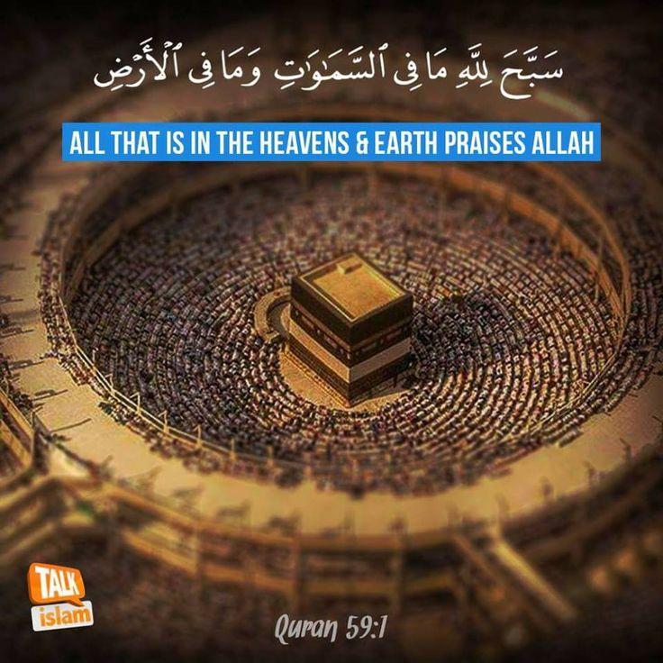 All that is in the heavens and Earth praises Allah! #Quran #PraiseAllah #Islam
