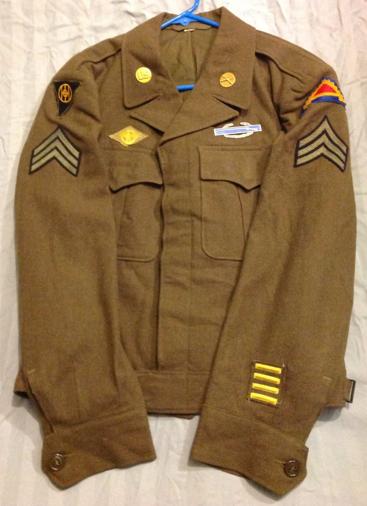 US Jacket, Field, Wool OD with 83rd infantry div, 7th army ...