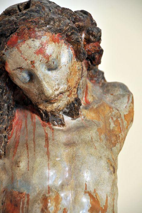 Autore ignoto / Cristo in croce /  legno / sec XVI-XVII (provenienza collezione Luigi Varoli)