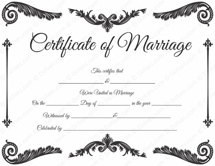 34 best Printable Marriage Certificates images on Pinterest - blank certificates template