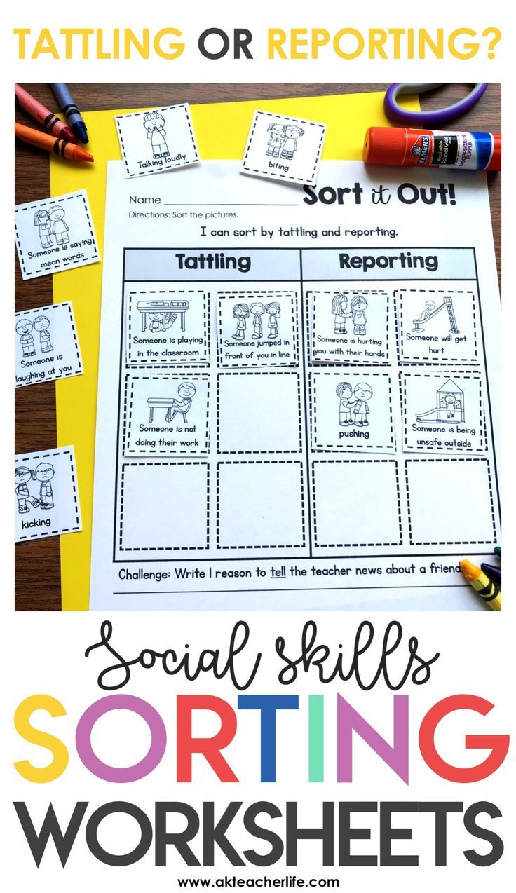 Tattling vs. Reporting | Kindergarten Special Education | Pinterest ...