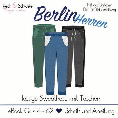 "Ebook Sweathose ""Berlin"" Herren bei Makerist"