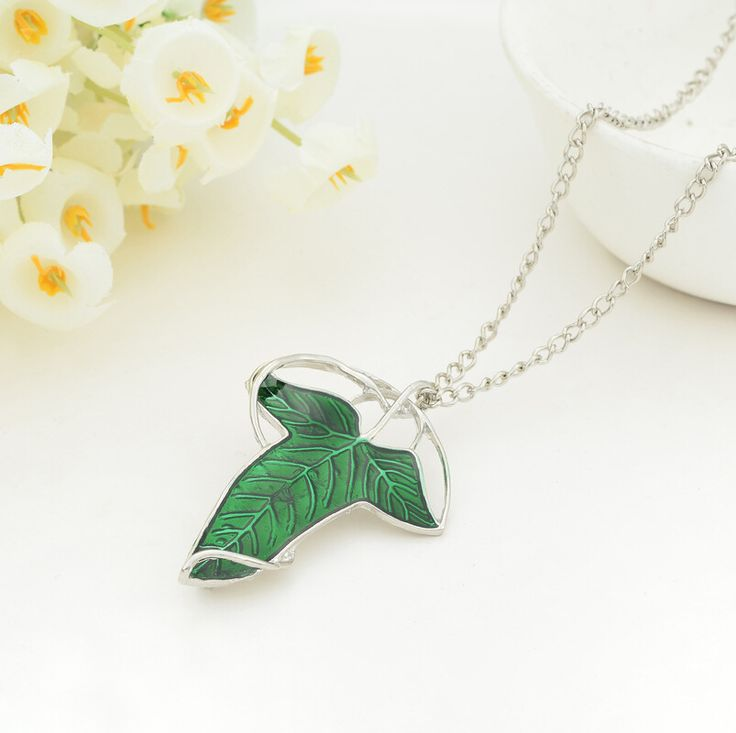 New Hot Movie Film The Lord Of The Rings Elven Leaf Pendant Arwen Evenstar Pendant Amphibious Christmas Gift