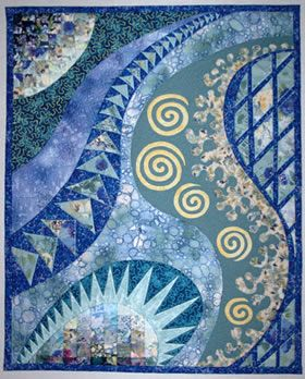 by student Penny Wells; Gloria Loughman contemporary quilter, teacher and author