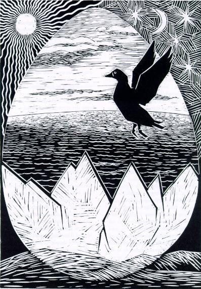 Sotka, maailmansynnyttäjä lintu http://www.kaapeli.fi/maailma/kalevala/ENSIMM%C4INEN.html