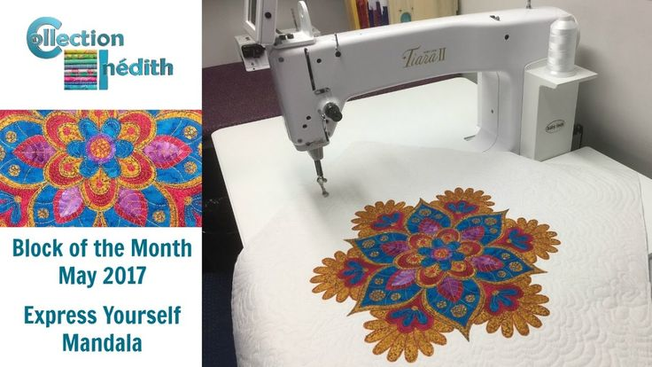 Collection Inédith - Express Yourself Mandala - Block of the Month - May...