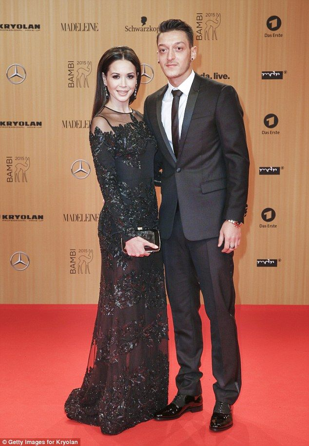 The 27-year-old got suited and booted for the event in Berlin alongside German popstar Mandy Capristo
