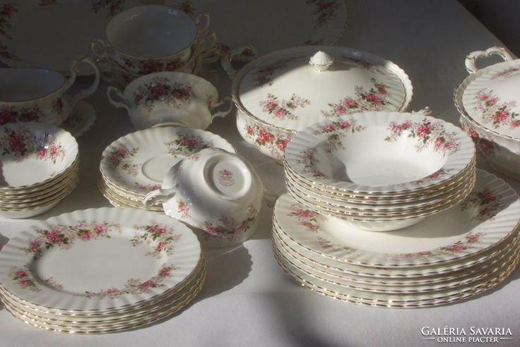 Kuriózum! Royal Albert Angol Lavendel rose ét/teás/kávés/süt
