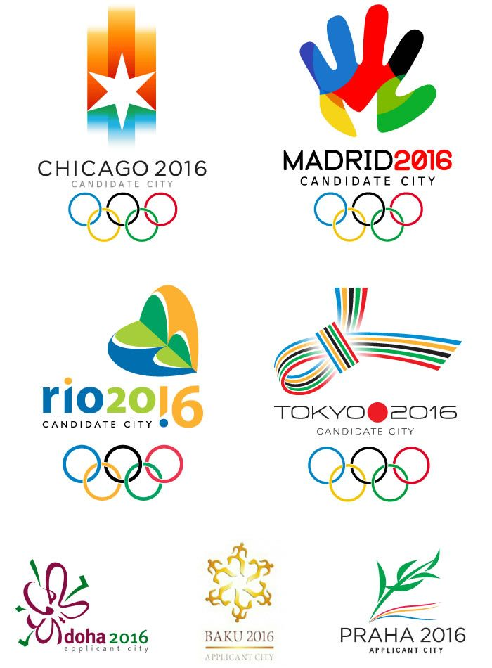 Logos de Candidatos para Olimpiadas 2016 - Olympic Logos- love the abstract shapes yet shows high contrast