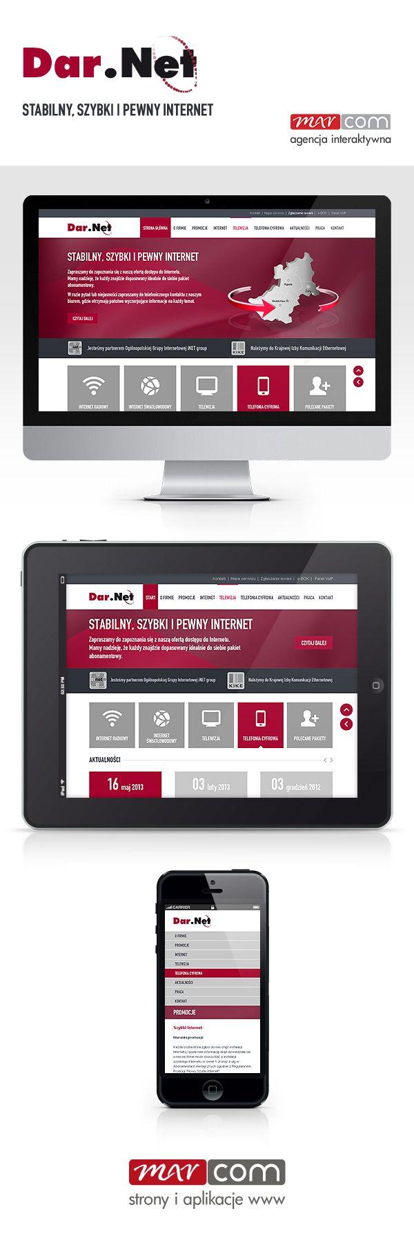 Responsywna strona internetowa www.darnet.pl - Marcom Interactive Rybnik, Śląsk / Responsive webdesign by Marcom Interactive