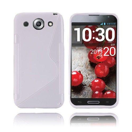 S-Line (Valkoinen) LG Optimus G Pro Suojakuori