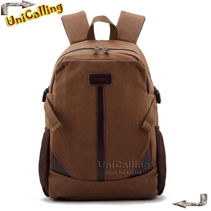 Марка 2014 новое прибытие холст мешок школы рюкзаки для мальчиков мужчин дорожные сумки (Может содержать 'ноутбука.), мешки Wholelsale, Бесплатная Доставка
