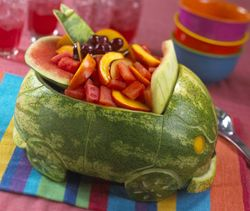 What we'll be carving to hold our fruit salad.