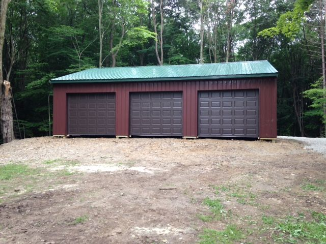 7 best images about pole barn garages on pinterest 3 car for 2 car pole garage