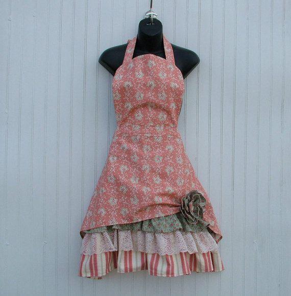 Womans Apron Retro Style Apron Vintage Lace Apron