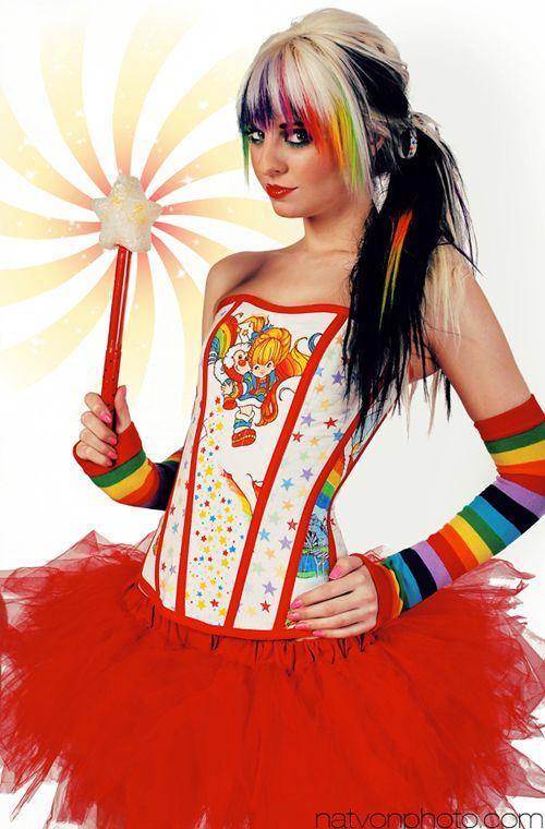 Rainbow Brite Corset