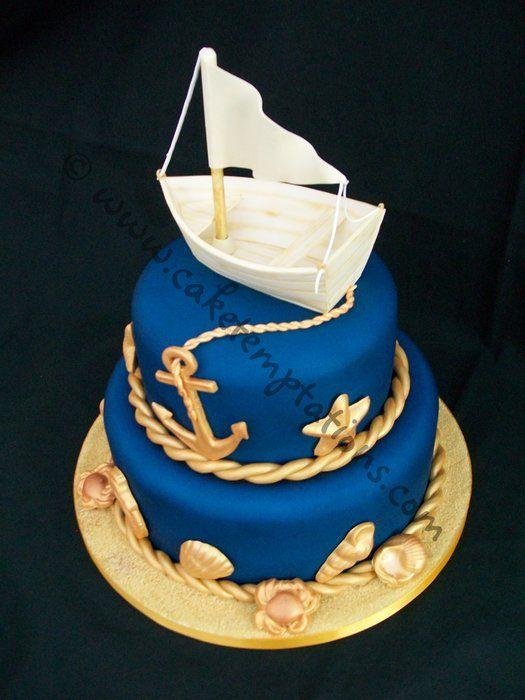 Best Boat Cake Ideas Images On Pinterest Nautical Cake - Boat birthday cake ideas