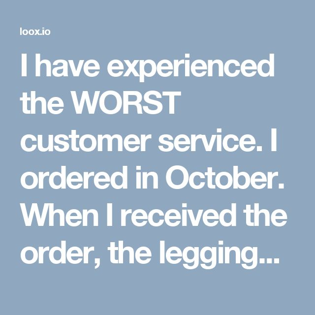 """I have experienced the WORST customer service. I ordered in October. When I received the order, the leggings did not fit and I attempted to redeem the """"exchange for free"""" promise noted on the website. I contacted the two emails FIVE times over a three months span before receiving a response. When I did, I was assured they would correct the issue by sending me the corrected size and a prepaid return envelope to an updated address. While I understand there were a number of things to pay attent..."""