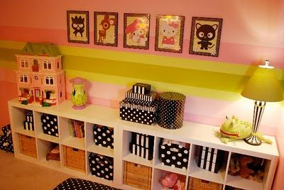 Julia Konya designed this sweet toddler bedroom for her little girl. The colors are perfect and I love the black and white polka dot accents throughout the room. What gave you the idea for the room? Anything special that inspired you? The room just evolved when I picked the paint. This is pretty much the...