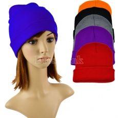 Unisex Beanie Solid Color Warm Plain Acrylic Knit Ski Beanie Hat 6 Colors