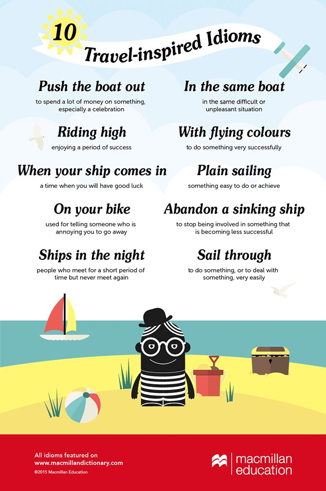 travel idioms infographic
