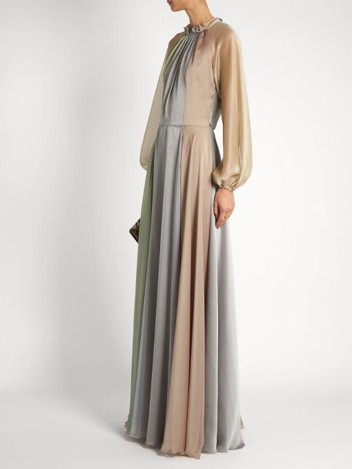 luisa beccaria Balloon-sleeved chiffon gown  £2,788