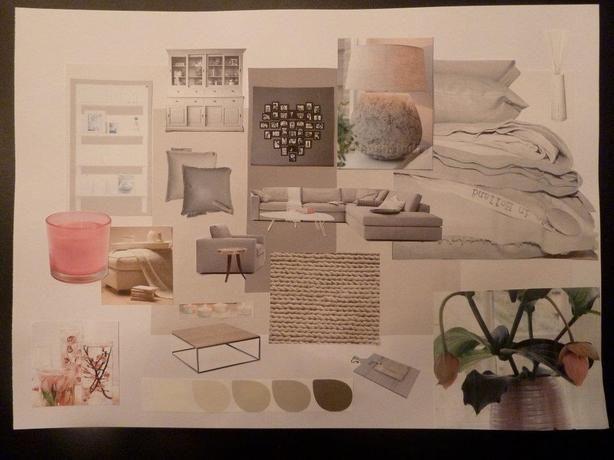 Moodboard project Restyling woonkamer jaren '30 woning.  - kleed