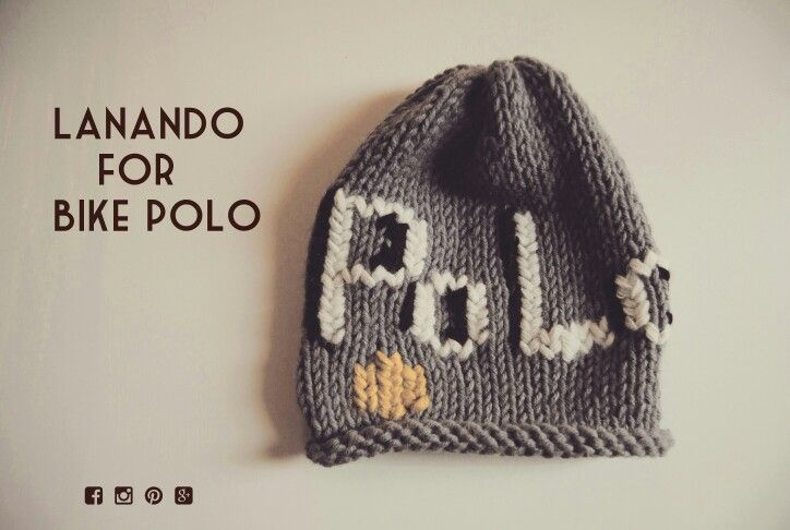 Bike polo hat by LANANDO handmade...Italy handmade