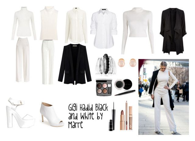 """Gigi Hadid Black and White by Marre"" by marremusic on Polyvore featuring moda, 1205, Joseph, Steffen Schraut, A.L.C., Derek Lam, Emilio Pucci, Nly Shoes, Via Spiga y Avenue"