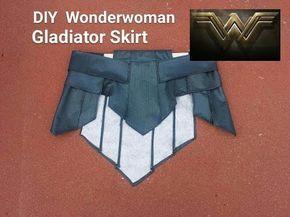 DIY Wonder Woman Gladiator skirt. Wonder Woman Cosplay Part 1 - YouTube