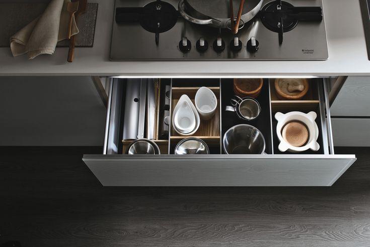 Le cucine componibili moderne di Stosa Cucina: originali ed eclettiche anche nei cassetti #cucine #stosa #cassetti www.stosacucine.com