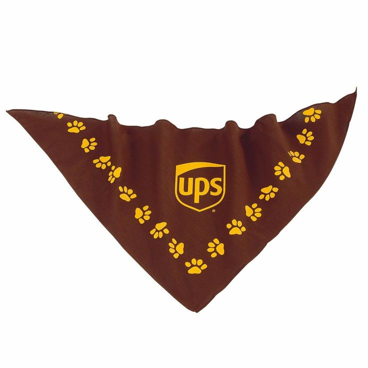 "UNITED PARCEL SERVICE BROWN & GOLD UPS PET FASHION GIFT BANDANA DOG CAT 22""x22"" #UPS"