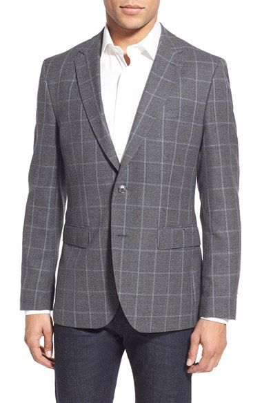 BOSS Trim Fit Check Sport Coat available at #Nordstrom