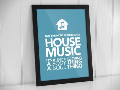 House Music poster mockup