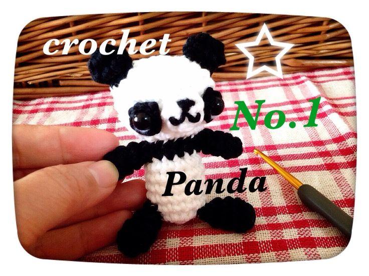 かぎ針で【あみぐるみパンダ前半)】を編んでみました☆Crochet Panda☆鉤針入門