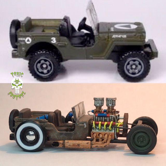 Kustom Matchbox 43 Jeep Willys Rat Rod By Toxic Kustomz Custom
