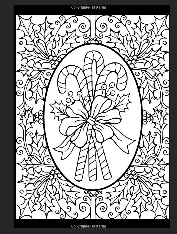 Amazon Christmas Cheer Stained Glass Coloring Book Holiday