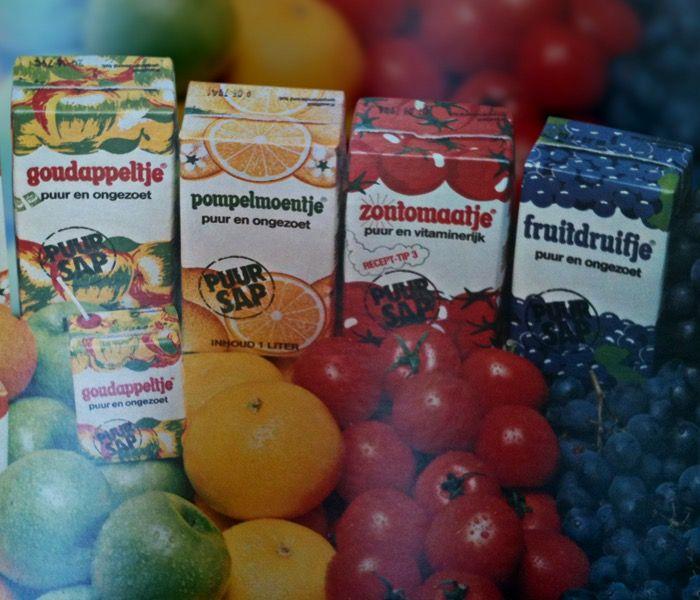 Fruitdruifje, Zontomaatje, Pompelmoentje, Goudappeltje Kijk voor meer merken op www.VerdwenenMerken.nl