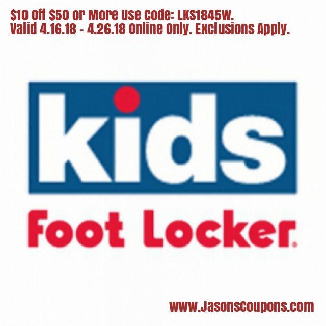 Save 10 Off 50 Or More At Kids Foot Locker Kids Foot Locker Foot Locker Lockers