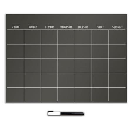 Black Dry Erase Calendar - Dry Erase Calendars