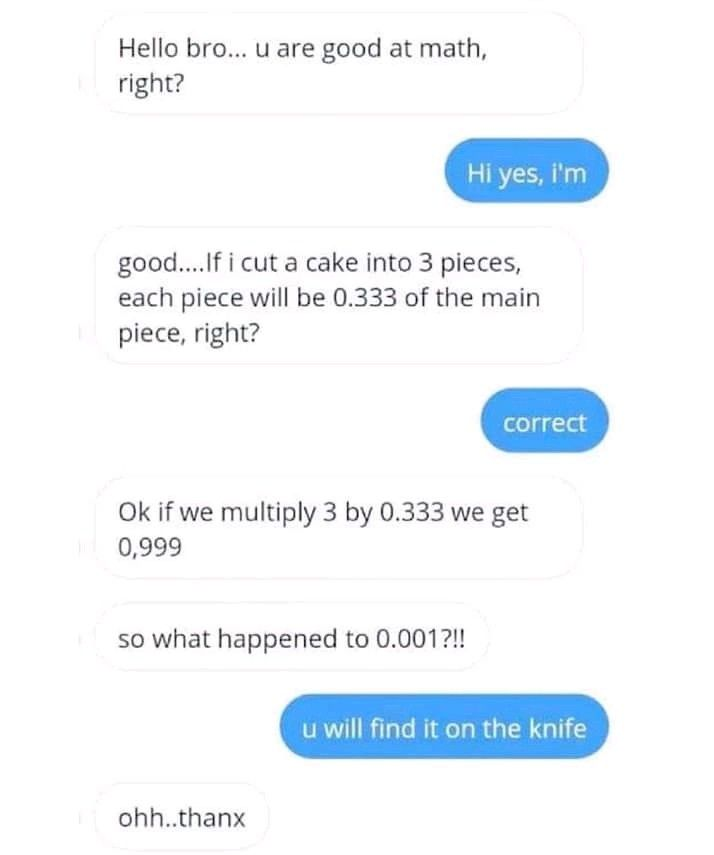 English Funny Chats On Facebook Funny Chat Funny Text Posts Math Memes