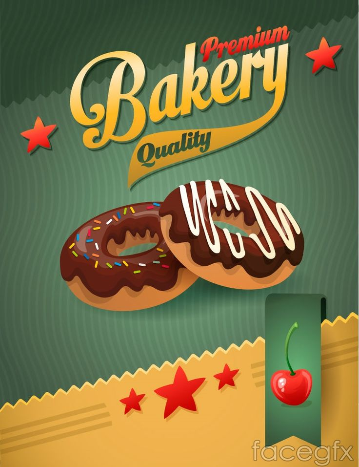 Chocolate donut background vector