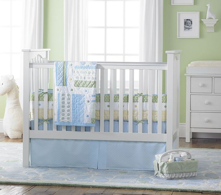 Green Blue White Boy Nursery... REALLY like these shades