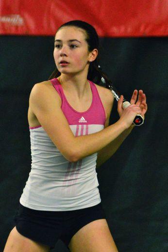Tiffany Lagarde a remporté les Championnats canadiens en simple chez les moins de 14 ans le mois dernier, à Vancouver.