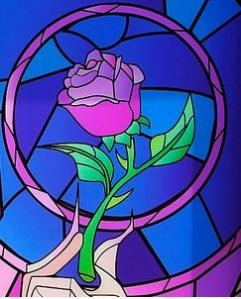 I just wanted the rose image but there are tons of cute Beauty and the Beast how tos.